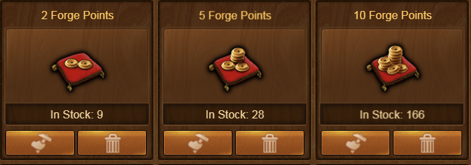 Earning Forge Point Packs