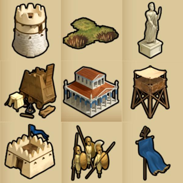 Guild Battlegrounds: Buildings